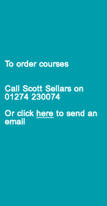 To order online courses call Lynne Akroyd on 01274 777998